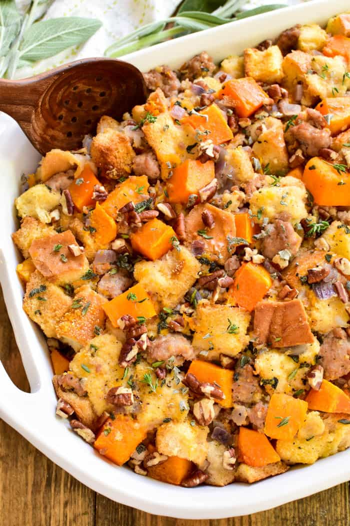 Butternut Squash Stuffing   Lemon Tree Dwelling To be honest  I want to share this Butternut Squash Stuffing recipe with  everyone  Because it s literally SO GOOD  But making it in front of a group  of
