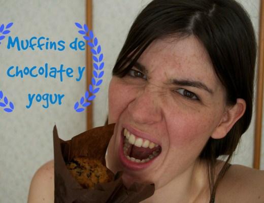 muffins de chocolate y yogur sin huevos
