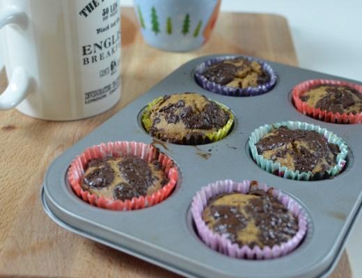 magdalenas saludables con chocolate