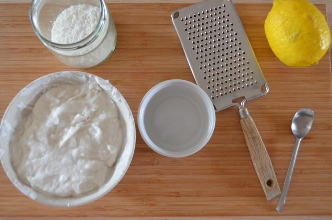 helado de limón y coco saludable