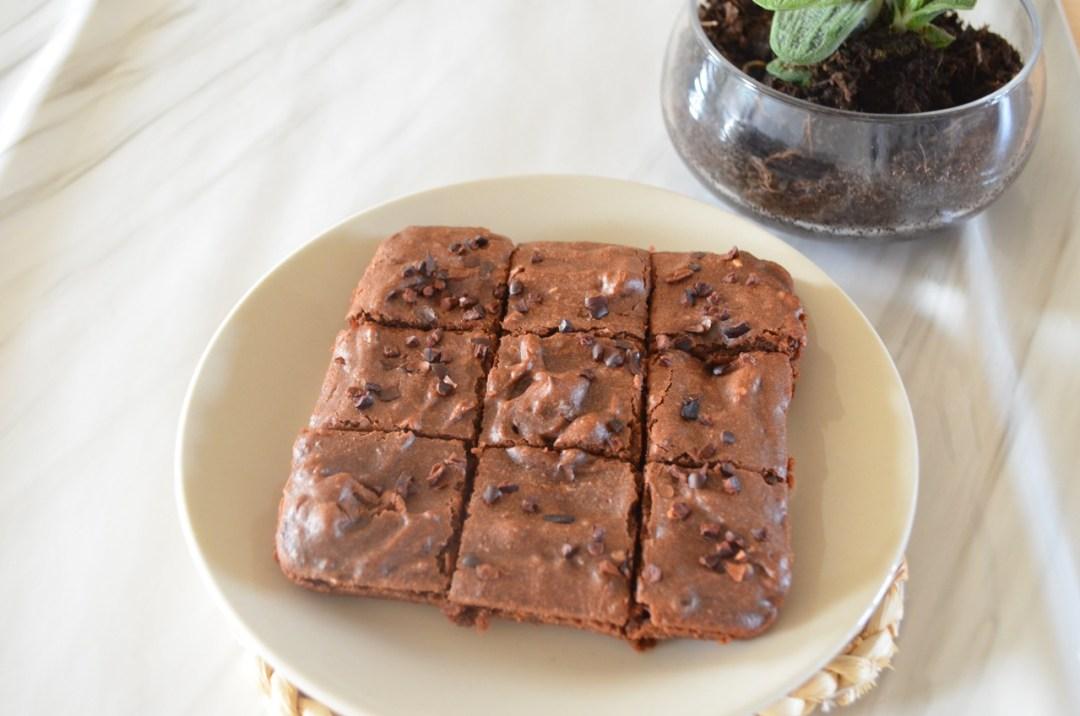 brownie vegano y saludable
