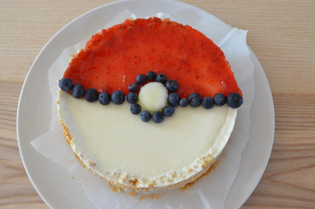 pokeball tarta de queso sin horno