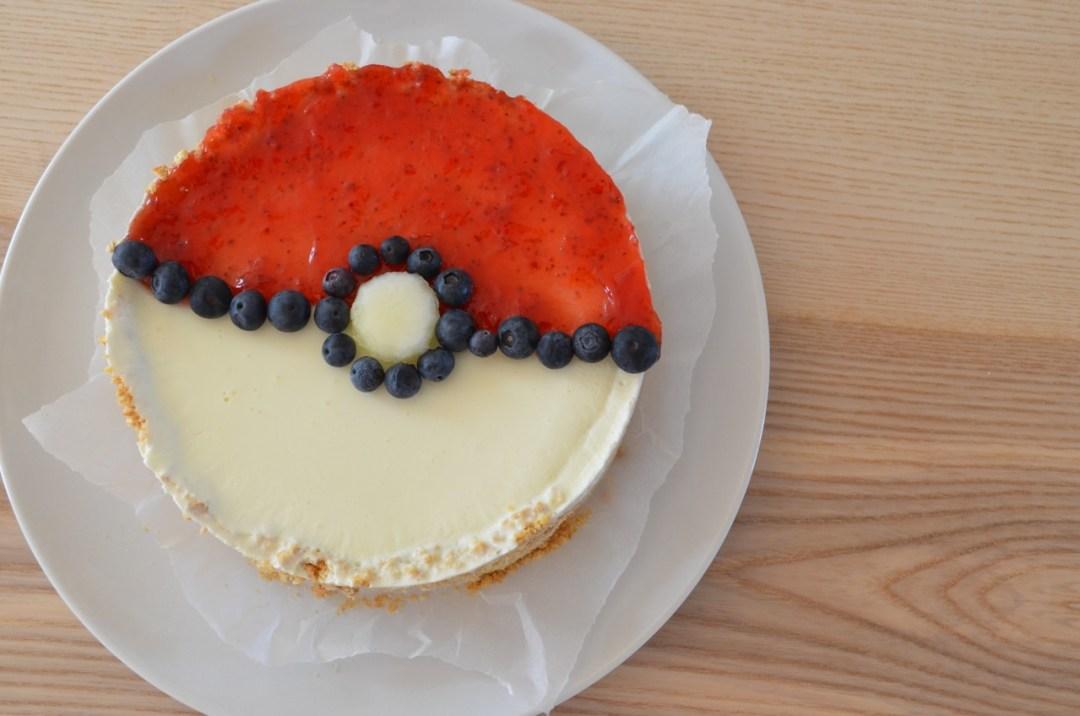 tarta de queso sin horno pokeball