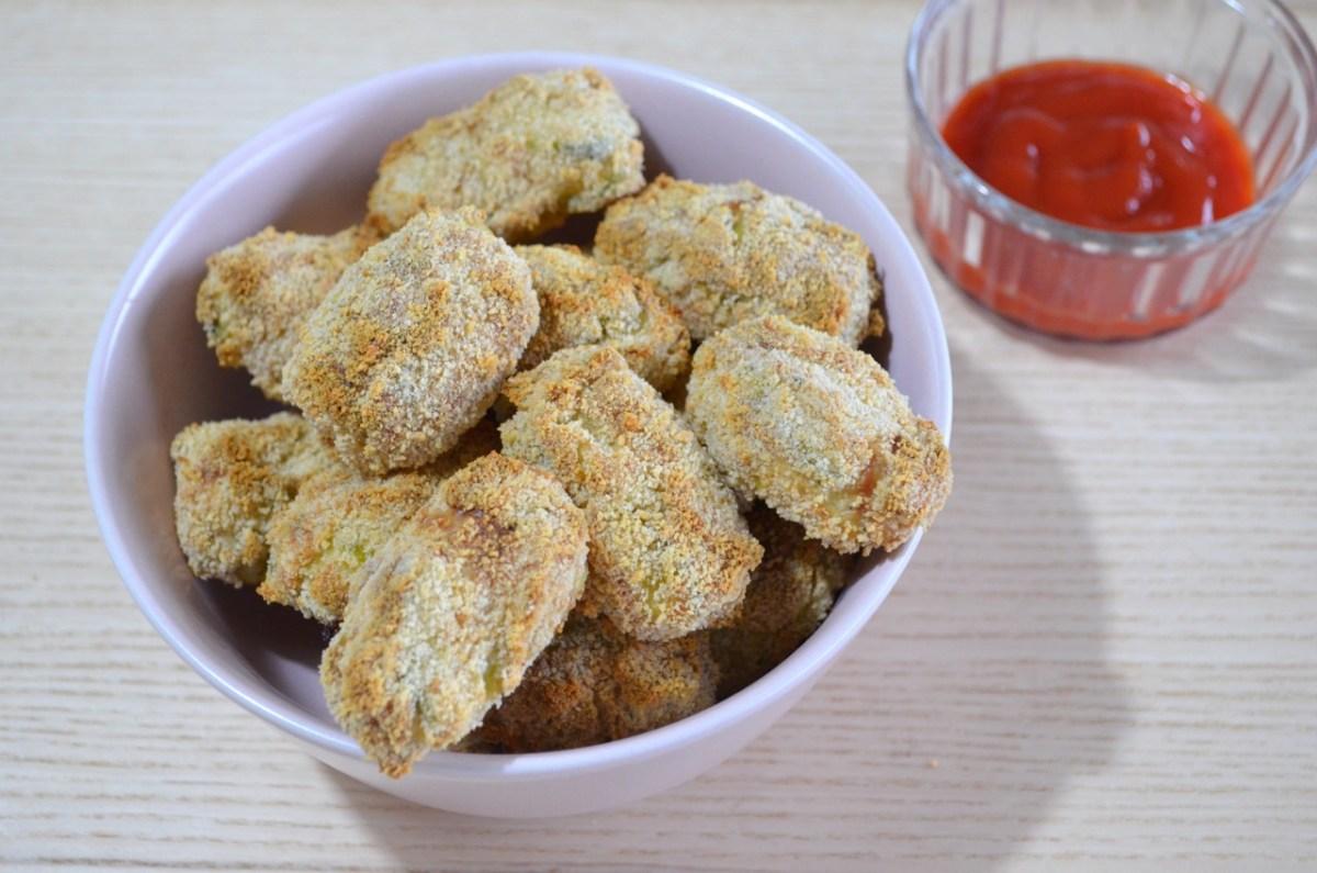 Croquetas veganas de calabacín al horno