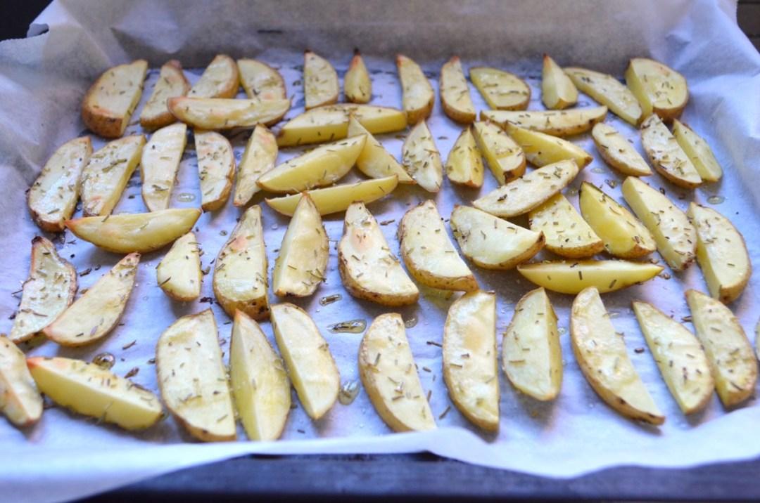 """Patatas """"Fritas"""" crujientes al horno"""
