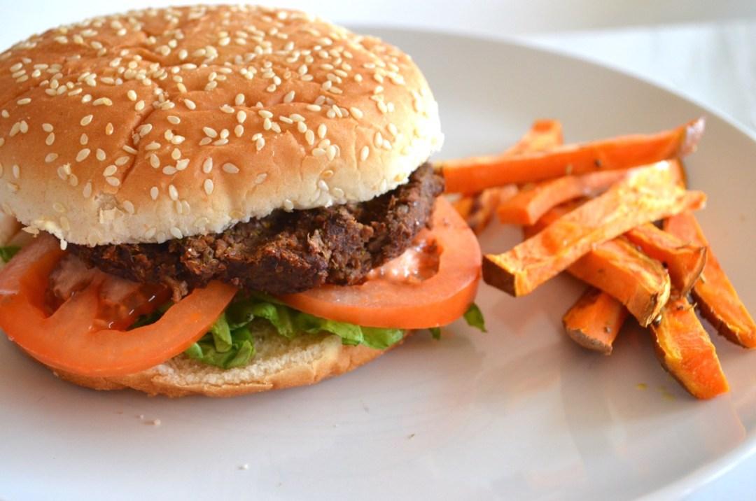 hamburguesa vegana de berenjena