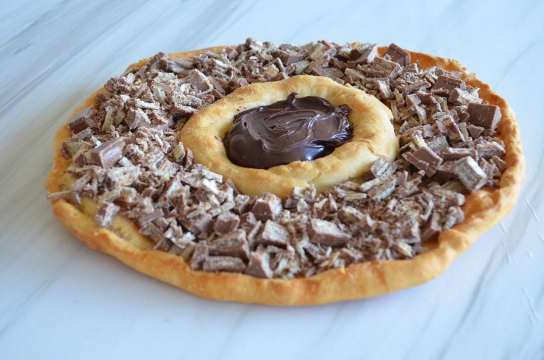 pizza de chocolate vegana sweet pizza tele pizza