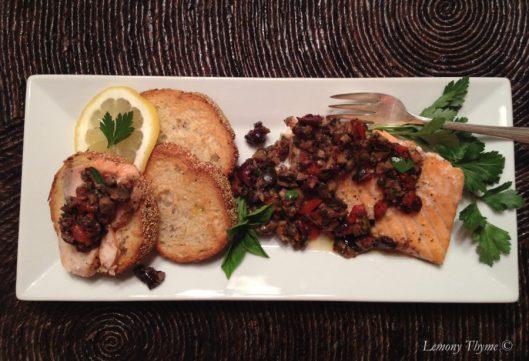 Olive Tampenade Salmon