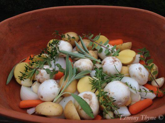 187 Roast Chicken In A Clay Baker Lemony Thyme