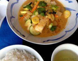 Thai Curry White Fish with Zucchini & Summer Squash