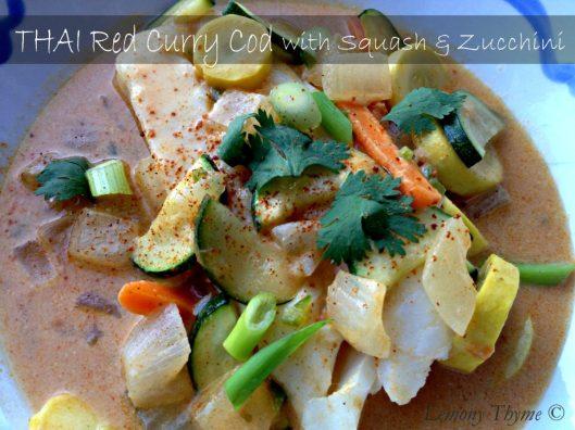Thai Red Curry Cod with Squash & Zucchini