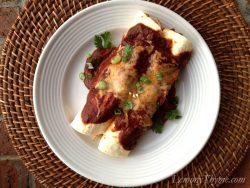 Chicken Enchiladas {with Red Sauce}