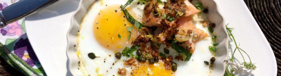 Salmon & Baked Eggs