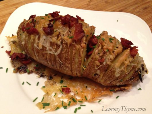 Sliced Twice Baked Potato