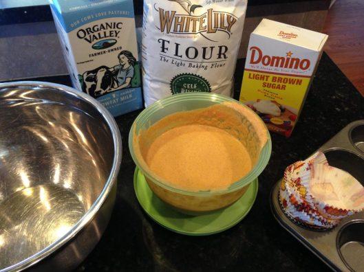 Pumpkin Rum Muffins with Maple Pecan Glaze