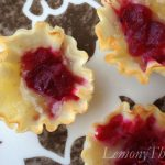 Cranberry Orange & Ginger Chutney Brie Tarts