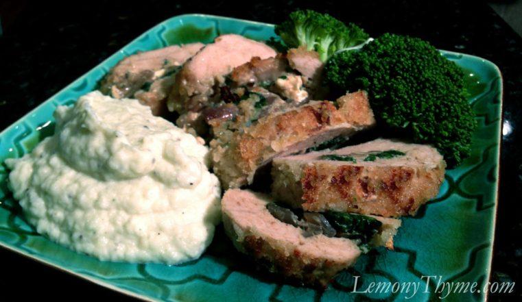 Spinach & Mushroom Stuffed Turkey Tenderloin