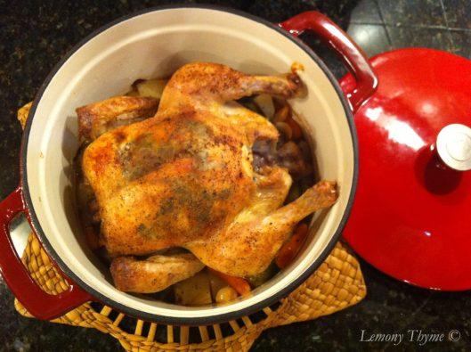 Roast Chicken in a Pot
