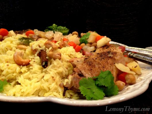 North African Chicken with Spicy Green Sauce