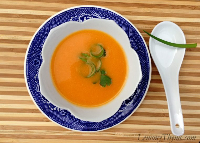 Thai Red Curry Carrot Soup