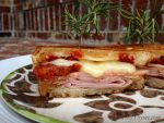 Grilled Rosemary Ham & Gruyere Cheese Sandwich {with Sundried Tomatoes}