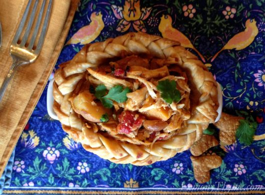 African Chicken Peanut Stew Pot Pie