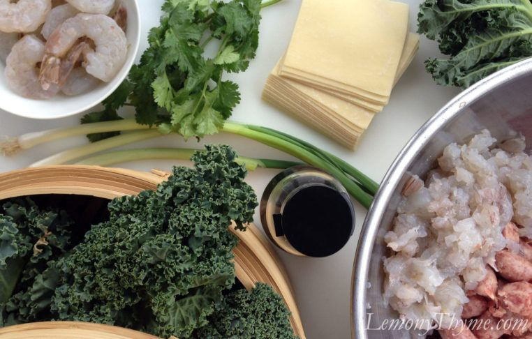 Wonton Soup with Shrimp & Kale