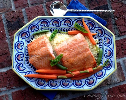 Maple Horseradish Baked Salmon