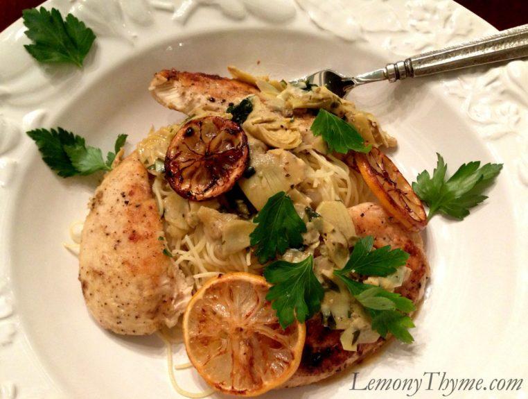 Roasted Lemon & Artichoke Chicken