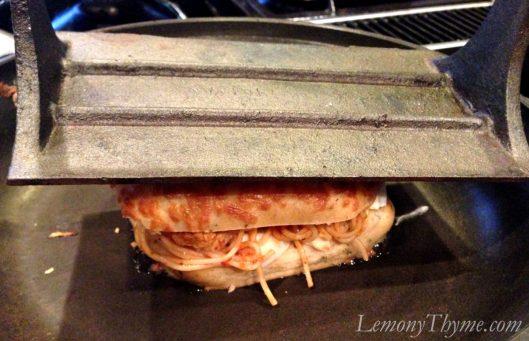 Spaghetti & Meatball Grilled Cheese Sandwich