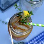 Lemony Thyme Sweet Tea Cocktail