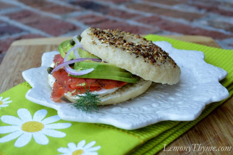 Bagels with Cream Cheese & Salmon