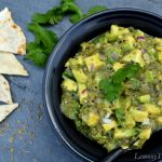 Fire Roasted Tomatillo Guacamole