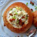 Fish Chowder in Bread Bowls