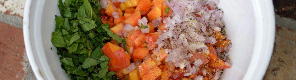 Peach Basil Salsa
