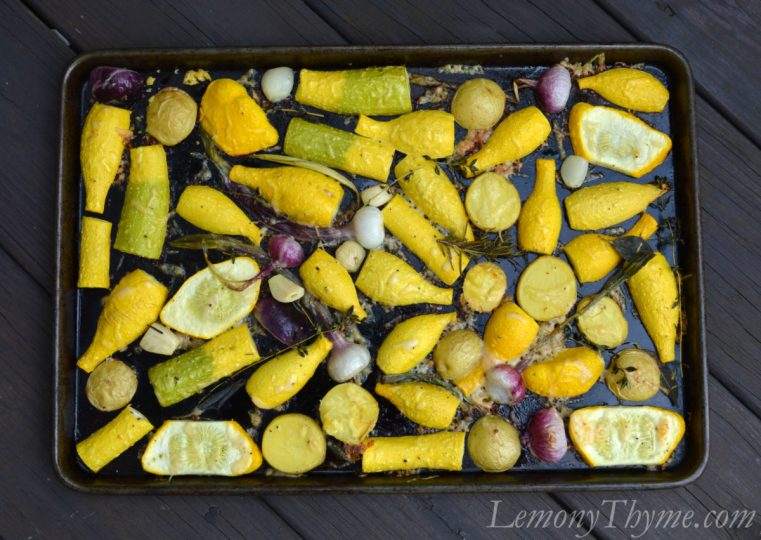 Parmesan Herb Roasted Veggies