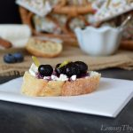 Blueberry Goat Cheese Crostini with Honey & Lemon