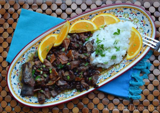 Brazilian Feijoada {Pork & Back Bean Stew}