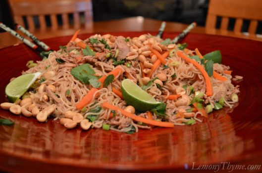 Chinese Pork Tenderloin with Garlic Sauced Noodles