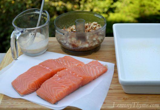 Pecan Salmon Caesar Salad