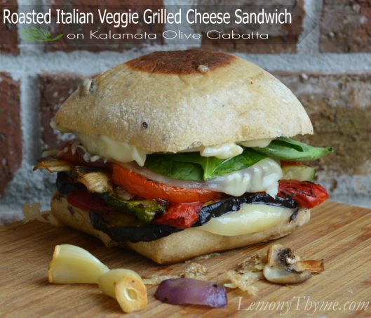 Roasted Italian Veggie Grilled Cheese Sandwich from Lemony Thyme