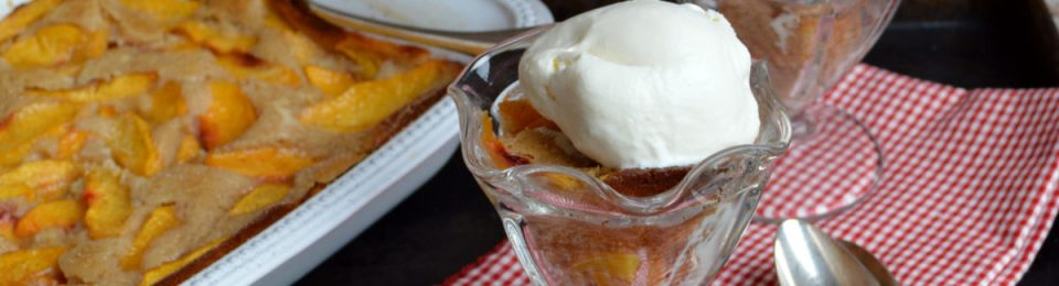 Peach Buttermilk Cobbler