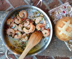 Sage Brown Butter Shrimp Scampi