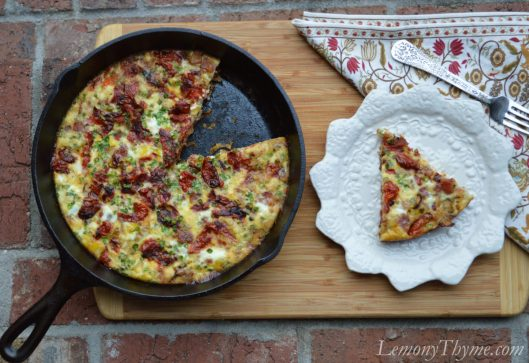 Caramelized Onion & Pancetta Crustless Quiche
