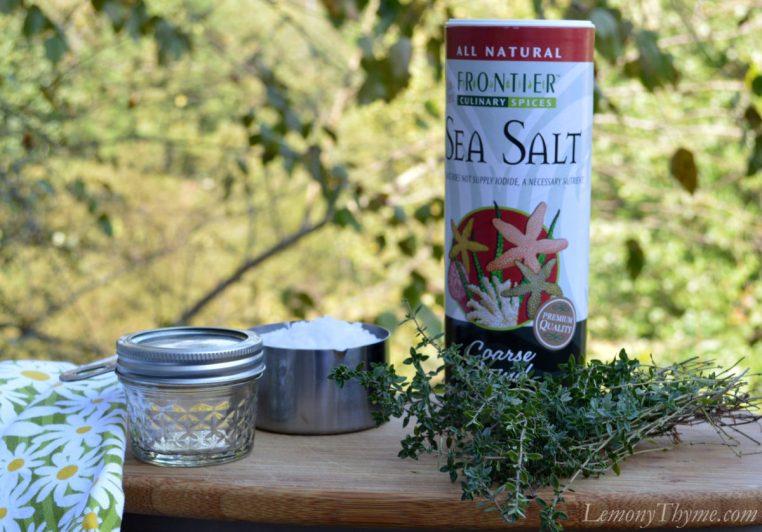 Fresh Herbs Preserved in Sea Salt