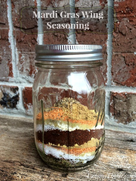 Mardi Gras Wing Seasoning Jar on Lemony Thyme