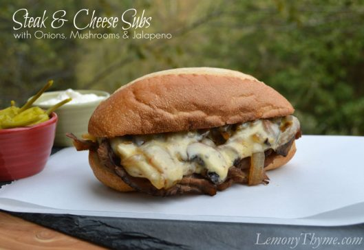 Steak & Cheese Subs from Lemony Thyme