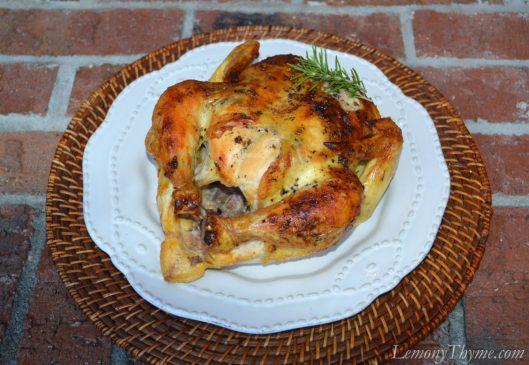 Rosemary & Cracked Black Pepper Roast Chicken