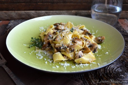 Pappardelle with Lemony Thyme Roasted Mushroom1