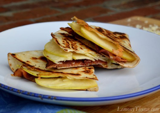 Apple, Smoked Bacon & White Cheddar Quesadilla1